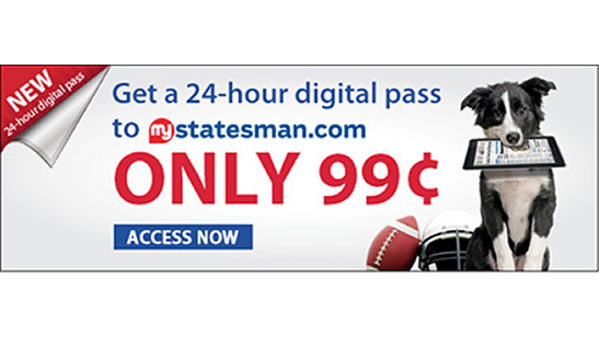 Austin Statesman Day Pass Promotion |  Horsham, PA | Marketing G2, LLC | 267-657-0207